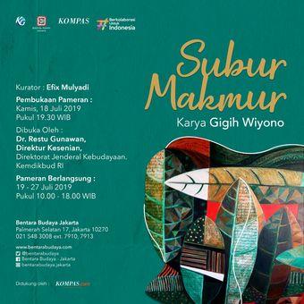 E-Poster Pameran Gigih Wiyono bertajuk Subur Makmur