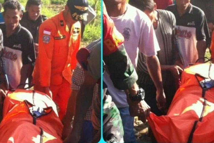 Tim SAR berhasil menemukan dua jenazah warga Kabupaten Manggarai, NTT yang terseret banjir
