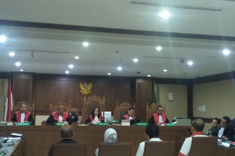 Sidang Pemeriksaan Saksi Asisten Pribadi Mantan Menteri Pemuda dan Olahraga (Menpora) Imam Nahrawi, Miftahul Ulum, di Pengadilan Negeri Jakarta Pusat, Kamis (6/2/2020)