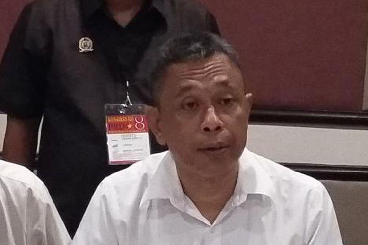 Ketua Umum Partai Rakyat Demokratik (PRD) Agus Jabo Priyono saat ditemui dalam Kongres VIII PRD di Hotel Acacia, Jakarta Pusat, Selasa (24/3/2015).