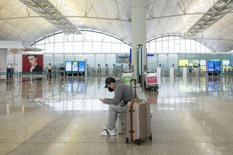 Ilustrasi bandara saat pandemi corona.