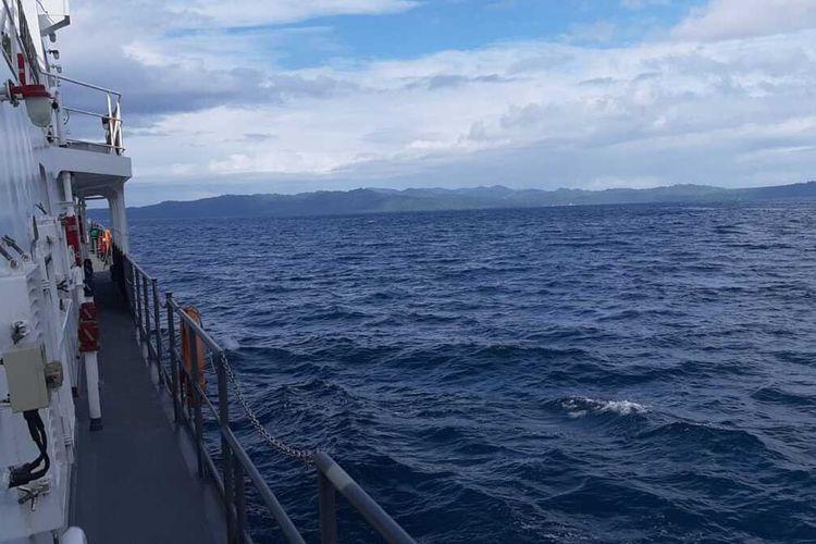 KN ABIMANYU milik Kantor Basarnas Ambon dikerahkan untuk mencari satu nelayan hilang di Laut Banda, Maluku Tengah, Jumat (8/5/2020)