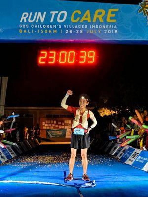 Pelari tercepat masuk finish kategori pria pada ultramaraton Run To Care (RTC) 2019 menempuh jarak 157 kilometer dari Denpasar-Singaraja-Tabanan pada Jumat (26/7/2019) hingga Minggu (28/7/2019).  Sementara, pelari tercepat masuk finish kategori wanita adalah Indriyati.
