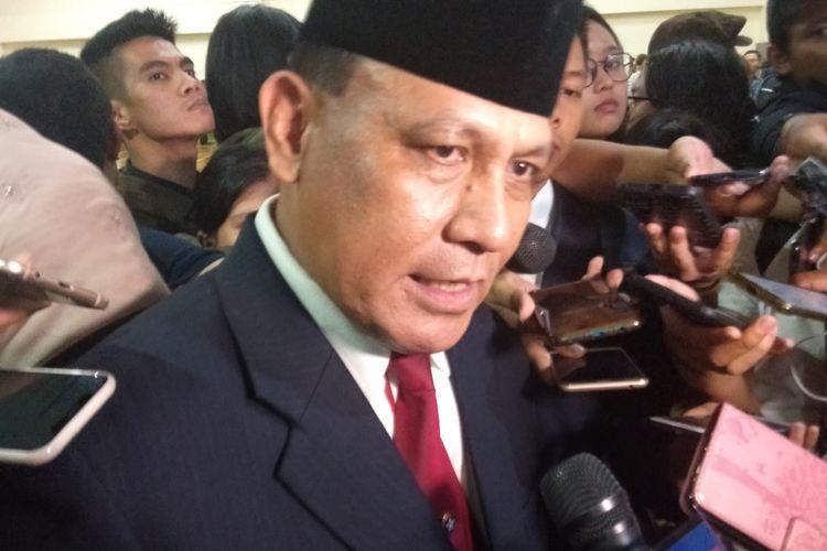 Ketua KPK Firli Bahuri seusai serah terima jabatan di Gedung Merah Putih KPK, Jumat (20/12/2019).