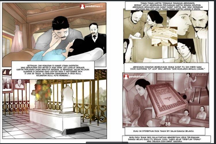 Kisah RA Kartini dalam komik Pejuang Emansipasi Perempuan