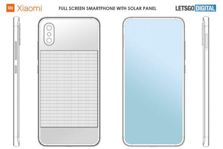 Sebuah pengajuan paten menunjukkan bahwa Xiaomi tengah merancang sebuah ponsel dengan tenaga surya
