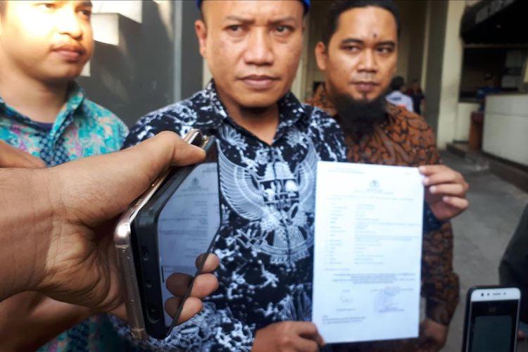 Ketua Fraksi Demokrat Dewan Perwakilan Rakyat Daerah (DPRD) DKI Jakarta Taufiqurrahmandi Polda Metro Jaya, Jakarta Selatan, Kamis (18/7/2019).