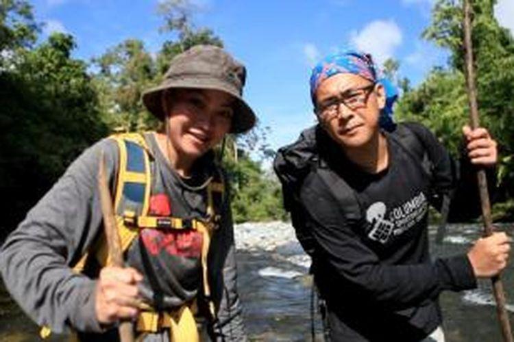 Perjalanan di hutan Wasile menuju tempat suku Tobelo.
