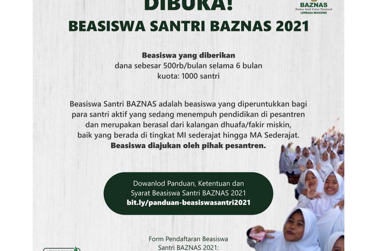 Beasiswa santri 2021