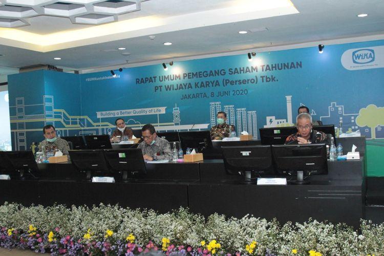 RUPST PT Wijaya Karya (Persero) Tbk, di Jakarta, Senin (8/6/2020).