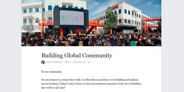 Surat Mark Zuckerberg tentang pencegahan penyalahgunaan media sosial