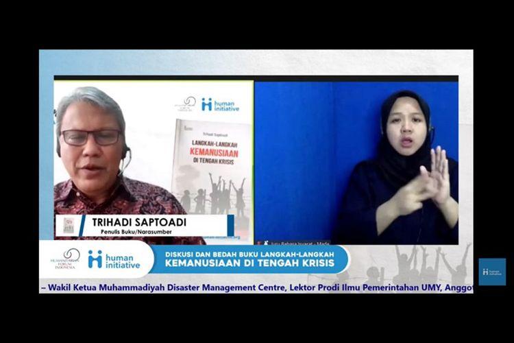 Trihadi Saptoadi saat memberikan pemaparan mengenai bukunya (Dok. Human Initiative)