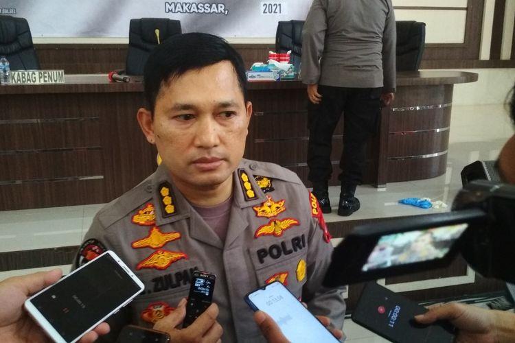 Kabid Humas Polda Sulsel Kombes Pol E Zulpan saat diwawancara wartawan di Mapolda Sulsel, Kamis (7/1/2021).