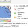 Gempa M 5,1 Guncang Nias Barat, Tak Berpotensi Tsunami