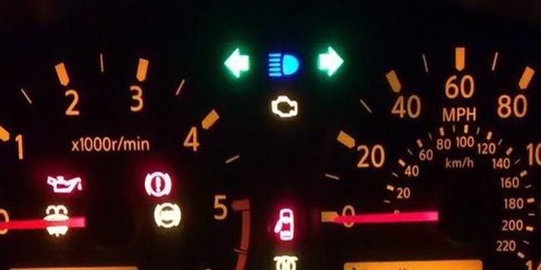 Ilustrasi lampu hazard