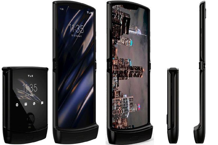 Bocoran wujud Motorola Razr generasi baru.