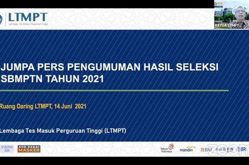 LTMPT: Hanya 184.942 Peserta yang Lulus SBMPTN 2021