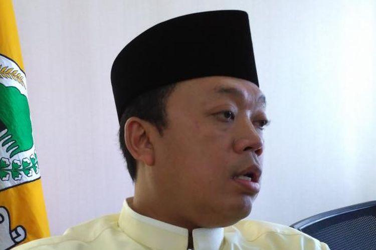 Ketua Koordinator Bidang Pemenangan Pemilu Wilayah I Partai Golkar Nusron Wahid di DPP Golkar, Jakarta, Jumat (17/2/2017)