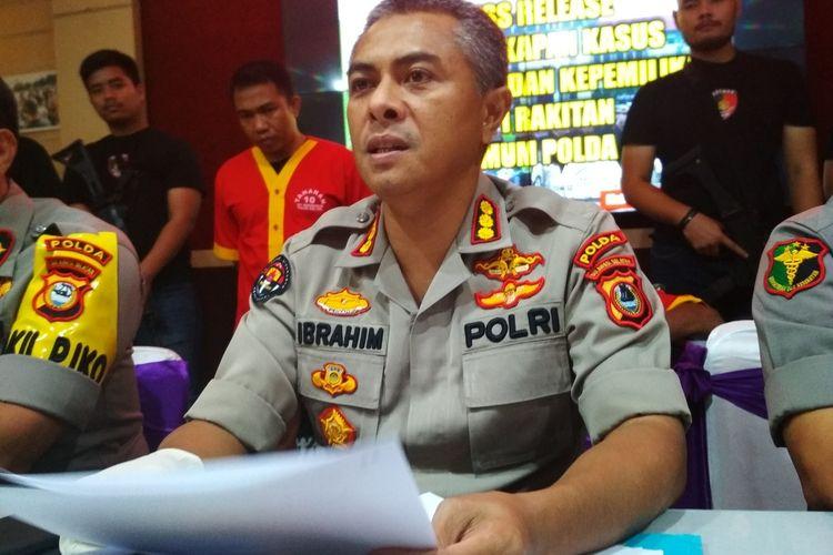 Kabid Humas Polda Sulsel Kombes Pol Ibrahim Tompo saat diwawancara terlait kasus rekayasa penculikan remaja putri di Polda Sulsel, Jumat (24/1/2020).