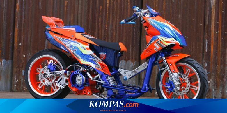 Honda Beat Ekstrem Bergaya Drag Bike Eropa