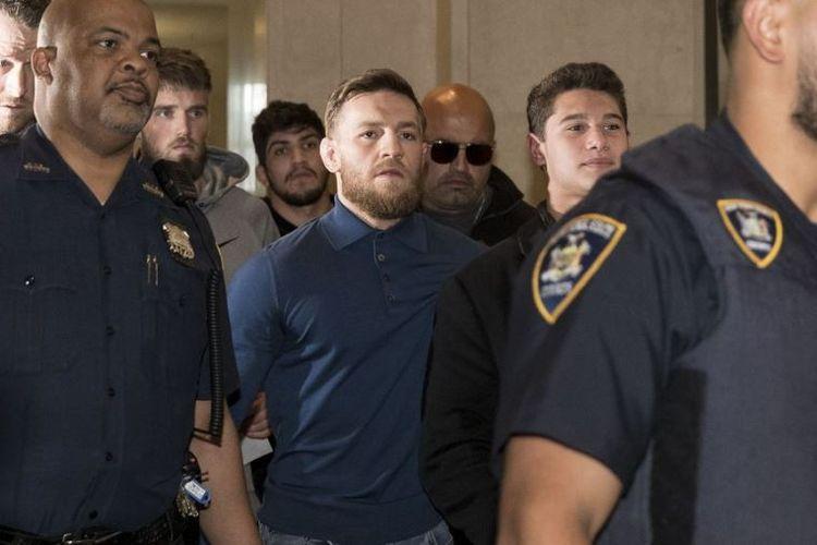 Conor McGregor saat ditangkap kepolisian New York