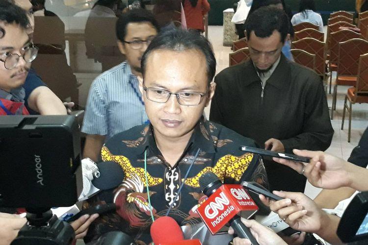 Calon pimpinan (Capim) Komisi Pemberantasan Korupsi (KPK) periode 2019-2023 Sigit Danang Joyo di  Gedung Kementerian Sekretariat Negara, Jakarta Pusat, Kamis (29/8/2019).