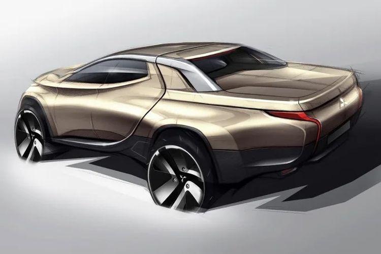 Sketsa Mitsubishi Triton generasi baru.
