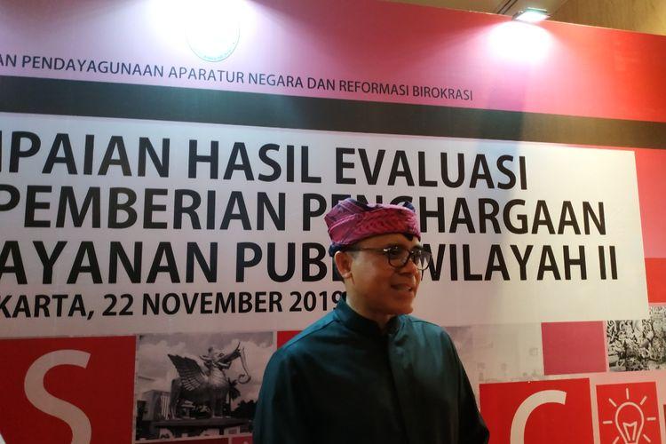 Ketua APKASI Abdullah Azwar Anas, di kawasan Pacenongan, Jakarta Pusat, Jumat (21/11/2018)