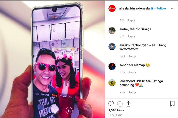 Kontes foto AirAsia di Instagram.