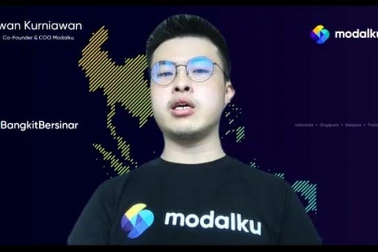 Co-Founder & COO Modalku Iwan Kurniawan dalam jumpa pers Modalku secara virtual, Selasa (30/3/2021). (Tangkapan Layar)