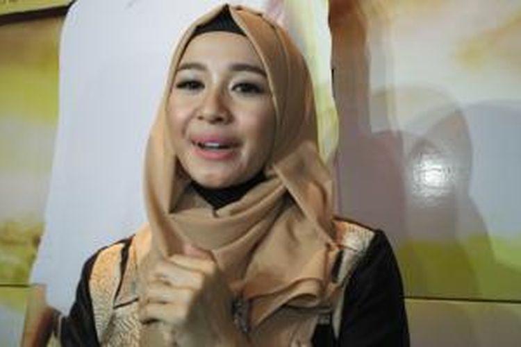 Laudya Cynthia Bella dijumpai dalam press screening Surga Yang Tak Dirindukan, di Mall Plaza Senayan, Jakarta Pusat, Selasa (7/7/2015).