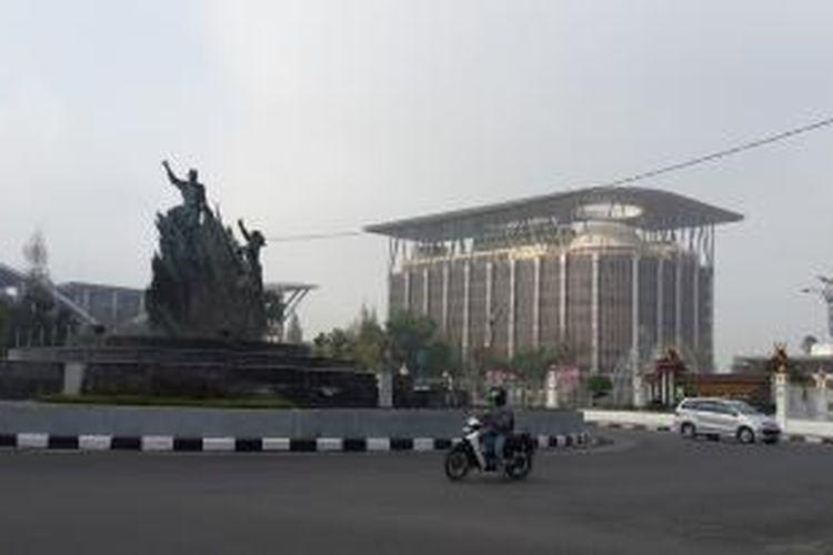 Pusat kota Pekanbaru, Riau.
