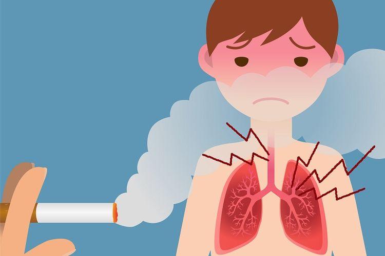 Ilustrasi bahaya asap rokok.