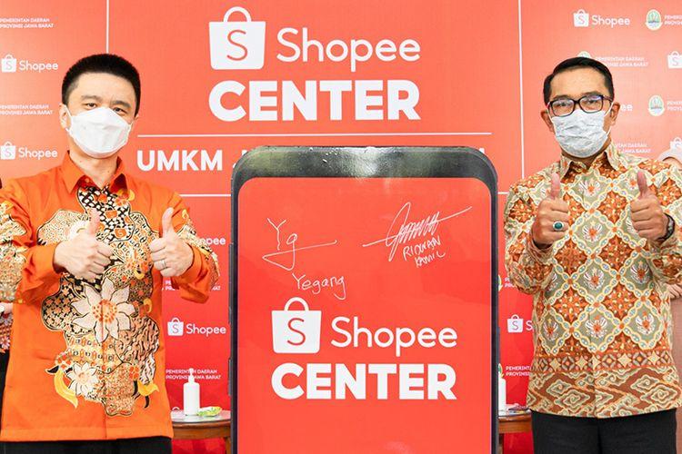 Pemprov Jabar berkolaborasi dengan Shopee Indonesia sebagai upaya percepatan digitalisasi UMKM dengan membangun Shopee Center Bandung.