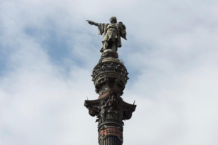 Monumen Christopher Colombus di Barcelona, Spanyol. (AFP/Josep Lago)