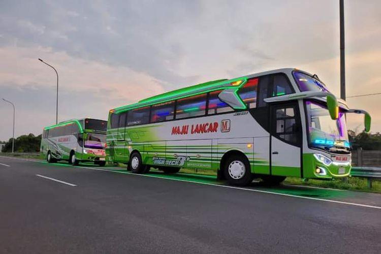 Bus AKAP PO Maju Lancar