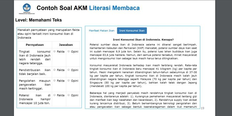 AKM Literasi Membaca Level Memahami Teks
