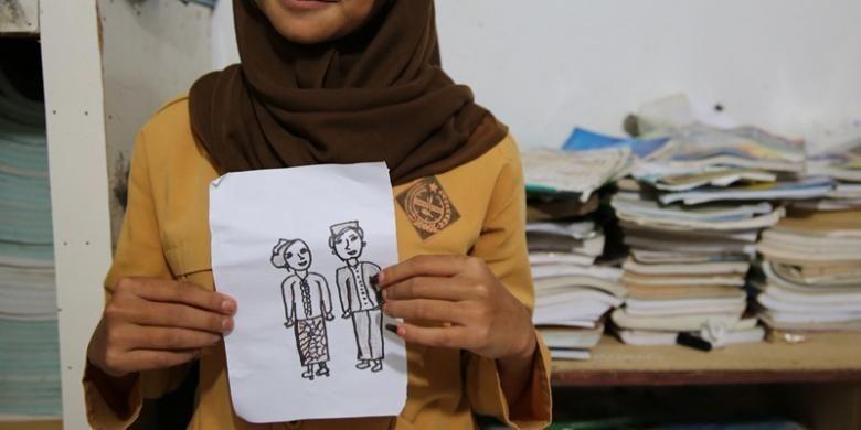Ilustrasi pernikahan dini.
