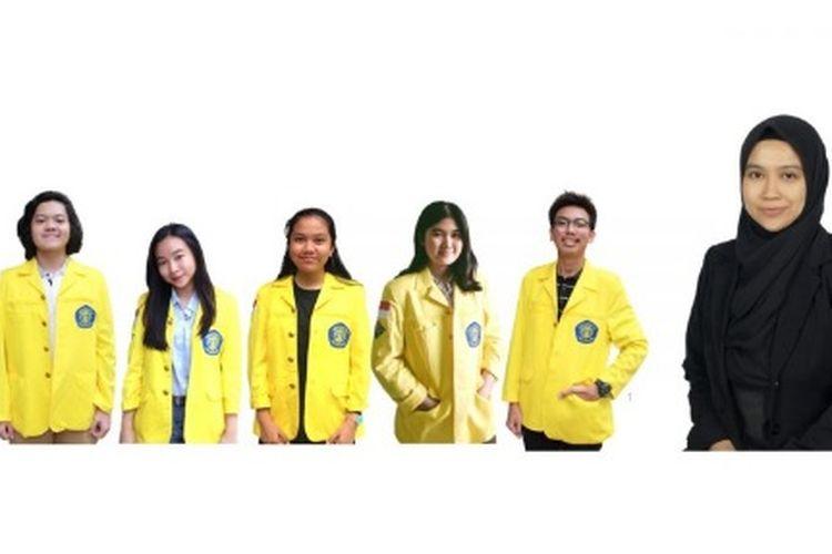 Lima mahasiswa Universitas Indonesia (UI) pencipta pasta gigi yang menyerupai permen.