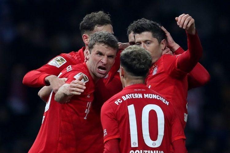 Hertha Berlin vs Bayern Muenchen pada lanjutan pekan ke 18 Bundesliga.