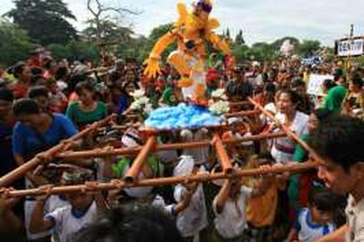 Parade Ogoh-ogoh Anak PAUD di Lapangan Lumintang Denpasar