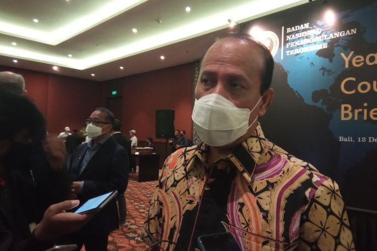 Kepala Badan Nasional Penanggulangan Terorisme (BNPT) Komjen Pol Boy Rafli Amar di sela-sela peluncuran BNPT TV di Nusa Dua, Badung, Bali, Sabtu (12/12/2020).