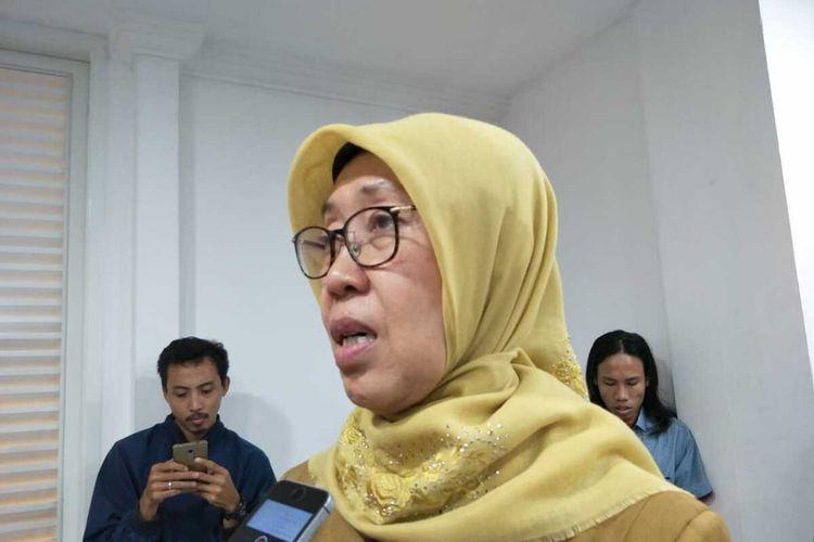 Kepala Dinas Kesehatan DKI Jakarta Widyastuti, di Bala Kota, Jakarta Pusat, Senin (27/1/2020)