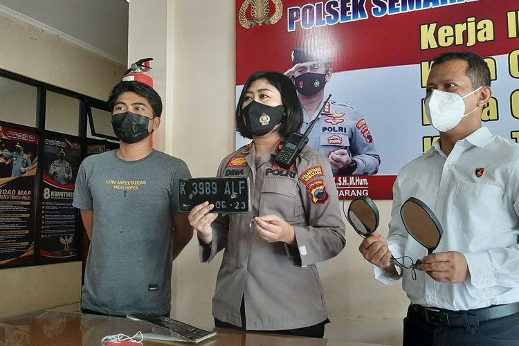Gelar perkara pencurian motor oleh dua bocah SD di Mapolsek Semarang Barat, Senin (7/6/2021).
