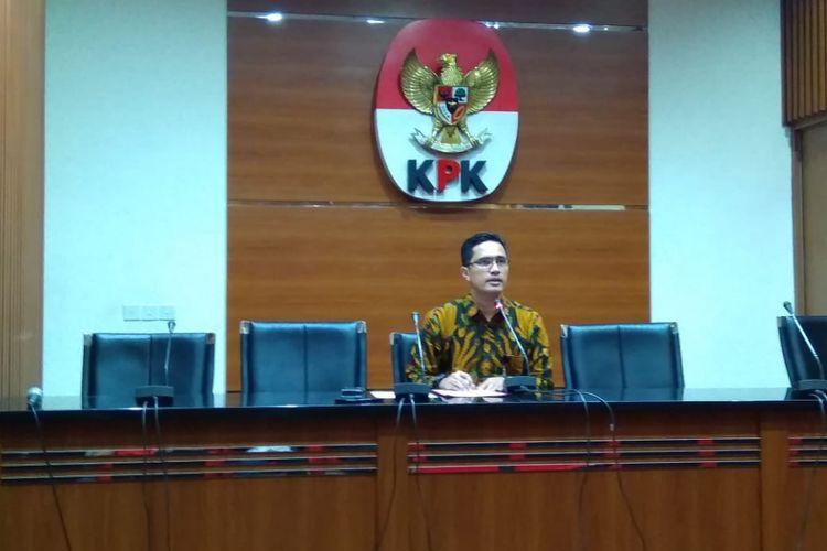 Juru Bicara KPK Febri Diansyah dalam konferensi pers di Gedung Merah Putih KPK, Jakarta, Rabu (26/12/2018).