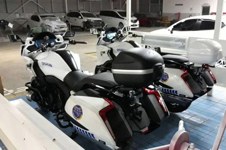 BMW K 1600 B yang kini menjadi motor Dinas Perhubungan DKI Jakarta.