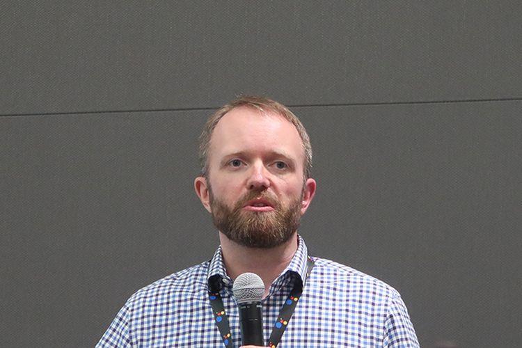 Product Management Director Google Assistant, Gummi Hafsteinsson, dalam sesi roundtable Google I/O 2017, Kamis (18/5/2017) di Partnerplex, Campus Google.