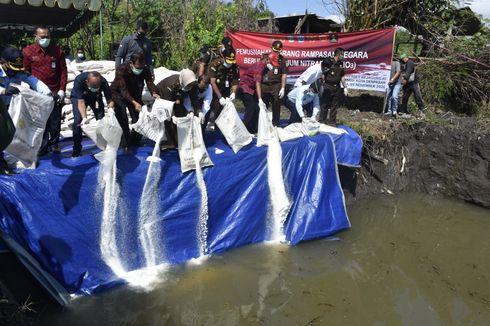 Takut Meledak, 92,62 Ton Amonium Nitrat Dimusnahkan di Bali