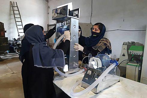Virus Corona, Gadis-gadis Afghanistan Ciptakan Ventilator dari Onderdil Mobil