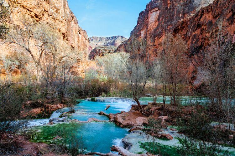 Sungai Colorado yang mengalir di Havasupai, Grand Canyon